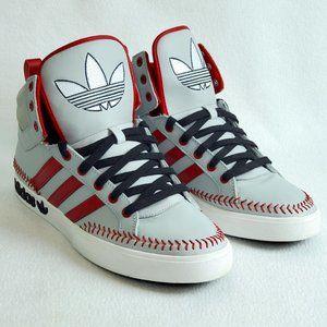 Adidas Baseball Stitch High Tops Size 10 New